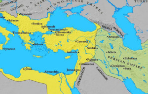 Eastern Roman and Persian (Sassanid) Empires, ca. 600
